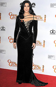Authentic Cher Bob Mackie Gown Worn By To The Golden Globes In 2010
