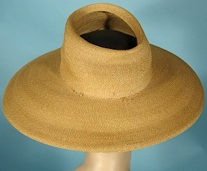 b2f9b6a2bd301  ORDER ITEM -  11505  Click on image for additional photos!   11505 - c. 1940 s  Straw Open Crown Hat!