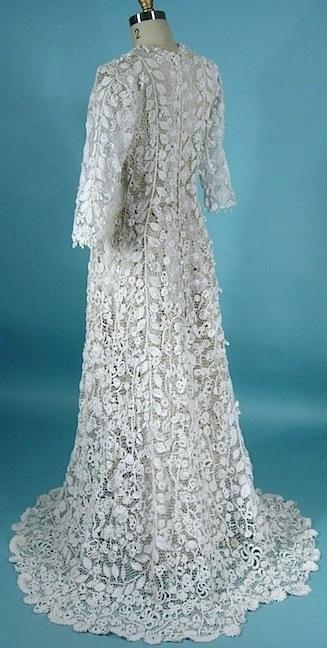 Antique dress item for sale for Crochet wedding dresses for sale